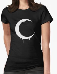 Melting Moon (black) Womens Fitted T-Shirt