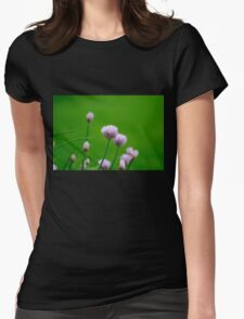 Macro Chive Blossoms 1 Womens Fitted T-Shirt