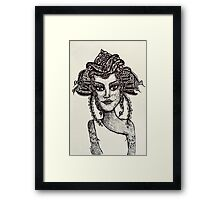 Zentangle Fairy Goddess Framed Print