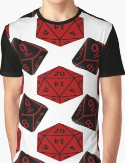 Geeky Dice Graphic T-Shirt