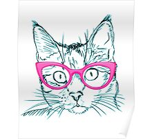 Hipster Cat Poster