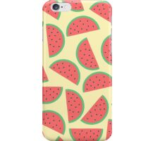 Watermelon Pattern With Yellow Background iPhone Case/Skin
