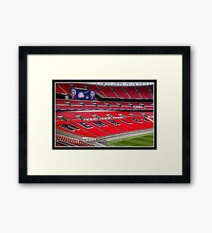 Wembley stadium HDR Framed Print