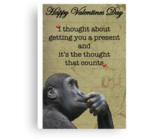 Funny valentine card Canvas Print
