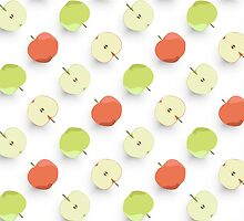 Green and Red Apples Pattern by snja
