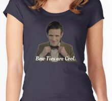 Doctor Who: Bow Ties are Cool (Matt Smith) Women's Fitted Scoop T-Shirt