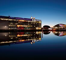 Glasgow River Clyde Reflections at Twilight by Maria Gaellman