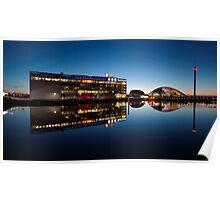 Glasgow River Clyde Reflections at Twilight Poster