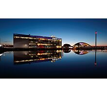 Glasgow River Clyde Reflections at Twilight Photographic Print