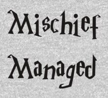 Harry Potter Mischief Managed Marauder's Map One Piece - Long Sleeve