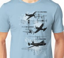 Three Planes Unisex T-Shirt