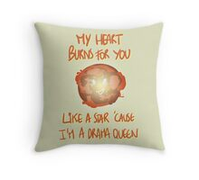 my heart burns for you like a star Throw Pillow