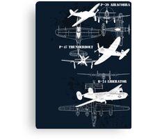 Three Planes (White Vers.) Canvas Print