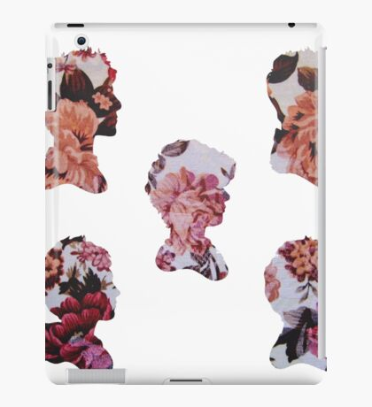 One Direction Floral Silhouettes iPad Case/Skin