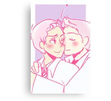 Dean/Castiel - Cheek Kiss Canvas Print