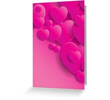 Valentine's Day pink hearts Greeting Card
