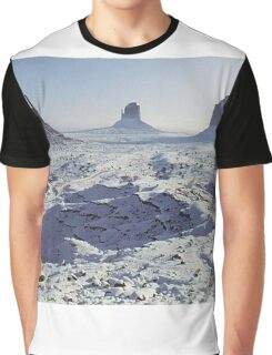 Monument Valley in the snow Graphic T-Shirt