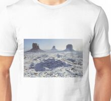 Monument Valley in the snow Unisex T-Shirt