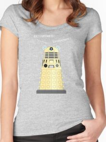 Dalek - exterminate ! exterminate ! exterminate !! Women's Fitted Scoop T-Shirt