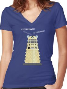 Dalek - exterminate ! exterminate ! exterminate !! Women's Fitted V-Neck T-Shirt