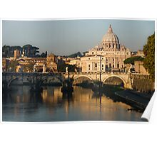 St Peter's Morning Glow - Impressions Of Rome Poster