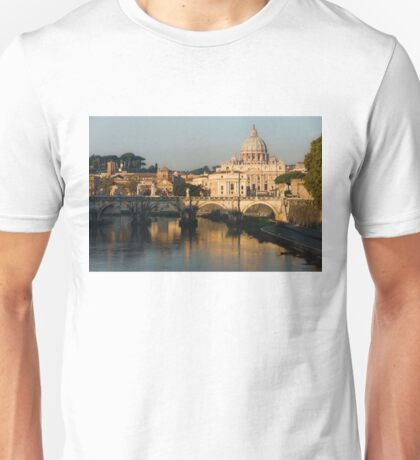 St Peter's Morning Glow - Impressions Of Rome Unisex T-Shirt