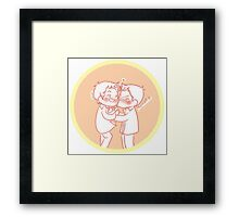 Dean/Castiel - Cheek Kiss 2 Framed Print