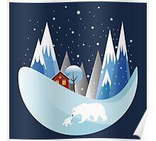 Snowing Boubble Poster