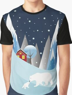 Snowing Boubble Graphic T-Shirt