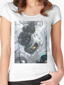 GLaDOS Women's Fitted Scoop T-Shirt