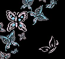 Illustration handmade drawing pastel chalks butterfly by naum100