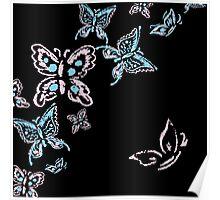 Illustration handmade drawing pastel chalks butterfly Poster