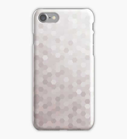 Gray Tones Hexagonal Pattern iPhone Case/Skin
