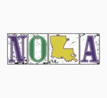 Mardi Gras NOLA Street Tiles Baby Tee