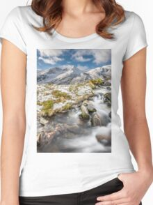Winter Landscape Women's Fitted Scoop T-Shirt