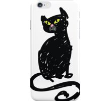 Black Cat - hand drawn sketch iPhone Case/Skin