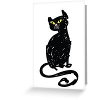 Black Cat - hand drawn sketch Greeting Card