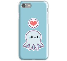 Cute Blue Octopus iPhone Case/Skin