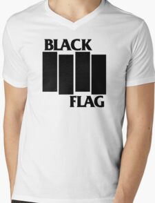 Black Flag Mens V-Neck T-Shirt