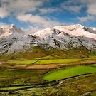 Nant Ffrancon Winter Panorama by Adrian Evans
