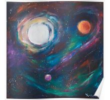 Original Acrylic Painting View from Starbase 27. Poster