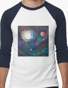 Original Acrylic Painting View from Starbase 27. Men's Baseball ¾ T-Shirt
