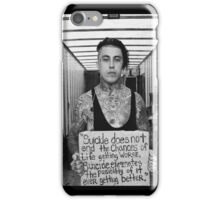 Ronnie Radke Suicide Sign iPhone Case/Skin