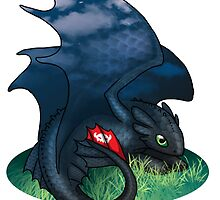Toothless - How To Train Your Dragon by runeowl