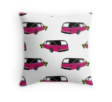 Pink Hearse Throw Pillow