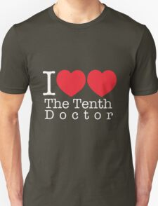 I Heart Heart The Tenth Doctor Unisex T-Shirt