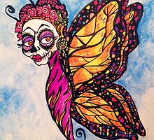 Frida Calavera Butterfly Woman by Candace Byington