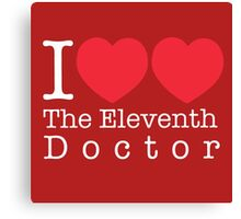 I Heart Heart The Eleventh Doctor Canvas Print