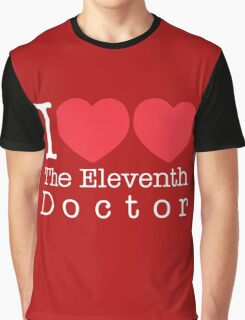 I Heart Heart The Eleventh Doctor Graphic T-Shirt