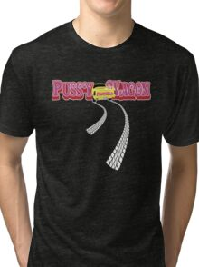 Pussy Wagon Long Tracks Variation 5 Tri-blend T-Shirt